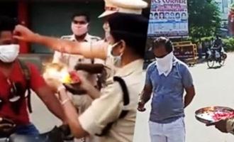 Police do 'aarti' of lockdown rule-breakers