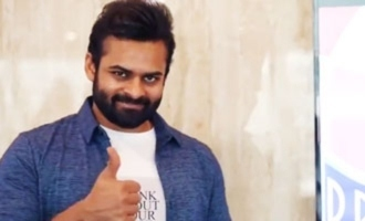 Sai Dharam Tej walks into Prasads Multiplex on Day 1 of reopening