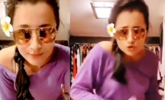 Video: Trisha breaks into dance at home