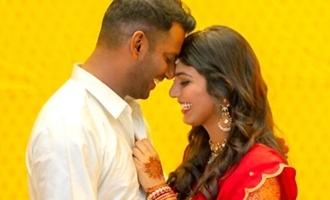 Vishal, Anisha get engaged, share a fond hug